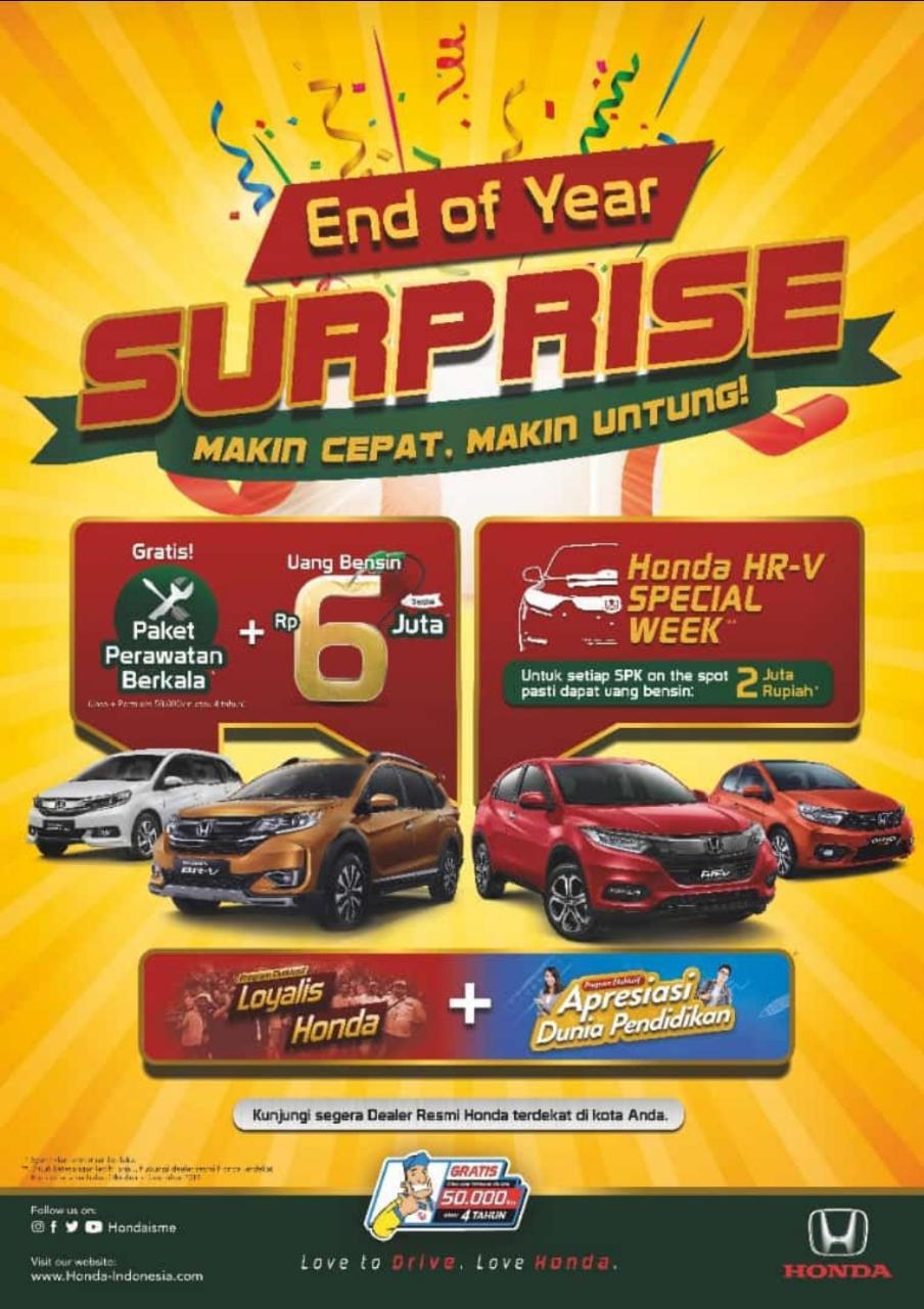 Surprise Promo Akhir Tahun Dealer Mobil Honda Jogja